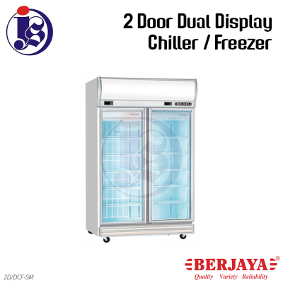 Berjaya 2 Door Dual Display Chiller/Freezer 2D/DCF-MG | 2D/DCF-SM