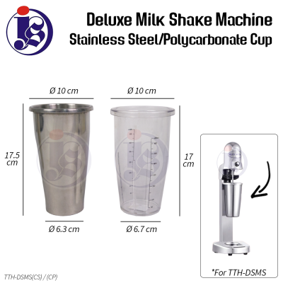 Stainless Steel/Polycarbonate Cup Replacement for Deluxe Milk Shake Machine