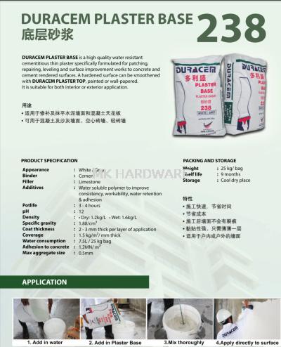 DURACEM 238 PLASTER BASE