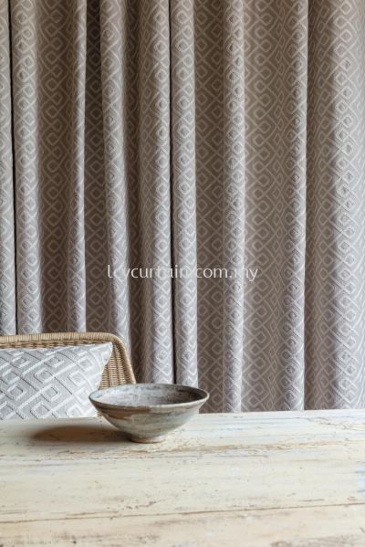 Embroidered Premium European Scandinavian Curtain Milltown Dundrum 02 Dune