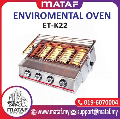 4-Burner Smokeless Infrared BBQ Grill Gas Stove (ET-K22)