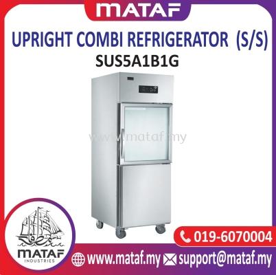 260Lx2 Upright Combi Refrigerator 2 Door (S/S) SUS5A1B1G