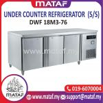 445L Under Counter Refrigerator 3 Door (S/S) DWF 18M3-76