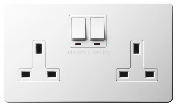 JASMART A5013DSN 13A 2 GANG SWITCHED SOCKET OUTLET WITH NEON