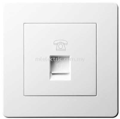 JASMART A6101 RJ11 1 GANG TELEPHONE OUTLET