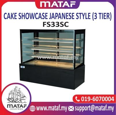Cake Showcase Japanese Style (3 Tier) FS33SC