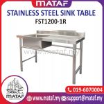 Stainless Steel Commercial Single Bowl Kitchen Sink with Drainboard Side Table (RIGHT) FST1200-1L