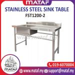 Stainless Steel Commercial Double Bowl Kitchen Sink FST1200-2
