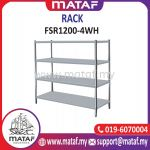 Stainless Steel Rack 4 Layer W Hole 4ft FSR1200-4WH