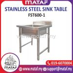 Stainless Steel Commercial Single Bowl Kitchen Sink FST1200-1L