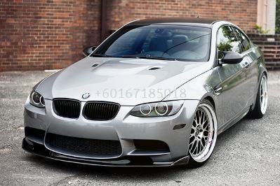 bmw e92 m3 front bumper m3 lip diffuser hamann add on upgrade performance look real carbon fiber material new set