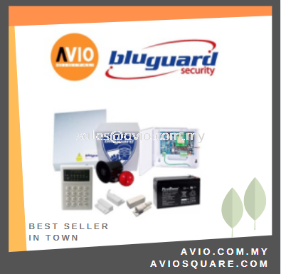 Bluguard V9 VOICE PACKAGE 9 zone Alarm Package