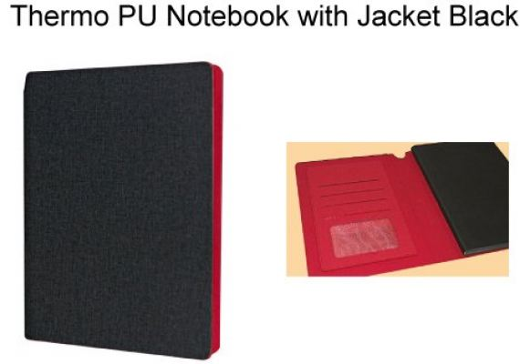 Thermo PU Notebook with Jacket Black