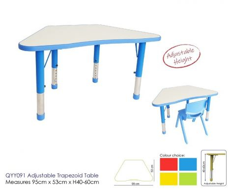 QYY091 Adjutable Trapizod Table