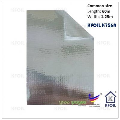 (K756A) Double Sided Reflective Aluminium Woven Foil/Film