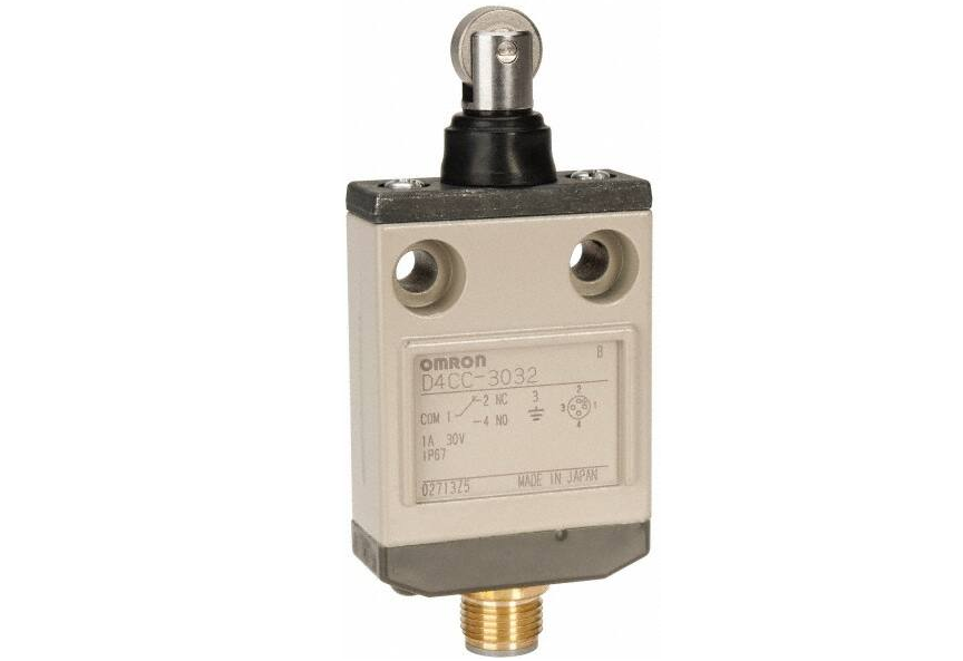 D4CC Omron _ Many Models Including Roller Lever Switches are Only 16-mm Thick with Connector