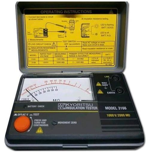 KYORITSU 3166 Analogue Insulation Testers