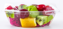 Mixed Fruits in Plate Precut Fruits Fruits