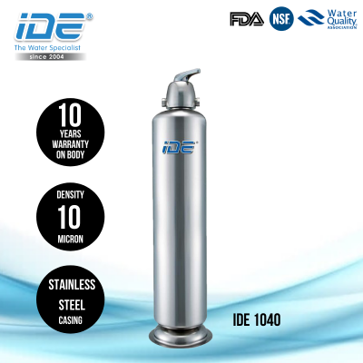 IDE 1040 Stainless Steel Outdoor Water Filter