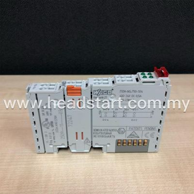 WAGO 4-CHANNEL DIGITAL OUTPUT, 24VDC, 0.5A, LIGHT GRAY 750-504 MALAYSIA