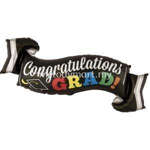"Foil 40""Congratz Banner"