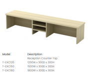 EXC120 Reception Counter Top 1200W x 300D x 300H