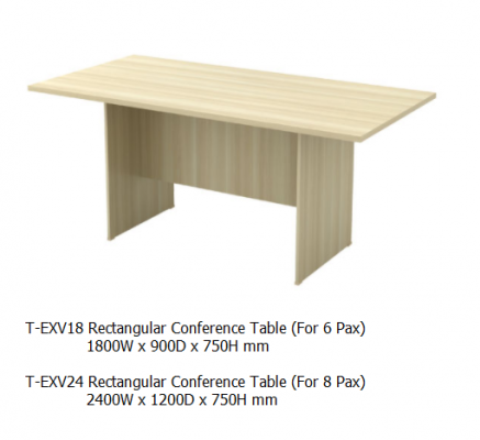 EXV18 Rectangular Conference Table 1800W x 900D x 750H mm