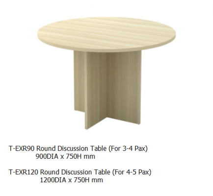 EXR90 Round Conference Table 900DIA x 750H mm