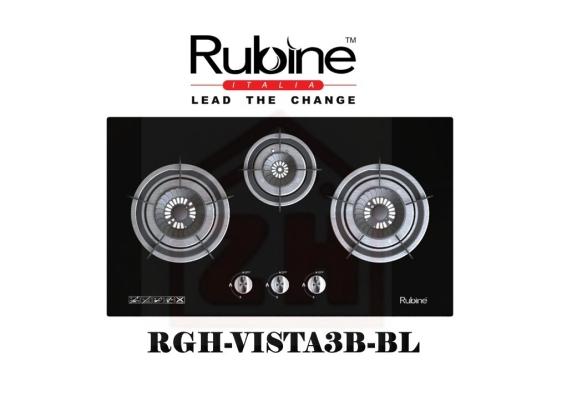 RUBINE 3 Burner Gas Cooker Hob RGH-VISTA3B