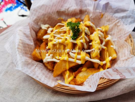 Cheesy Potato Wedges - Sample