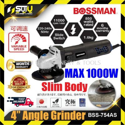 BOSSMAAN BSS754AS / BSS4896AS Angle Grinder Speed Control / Adjustable Speed 850w 11000rpm