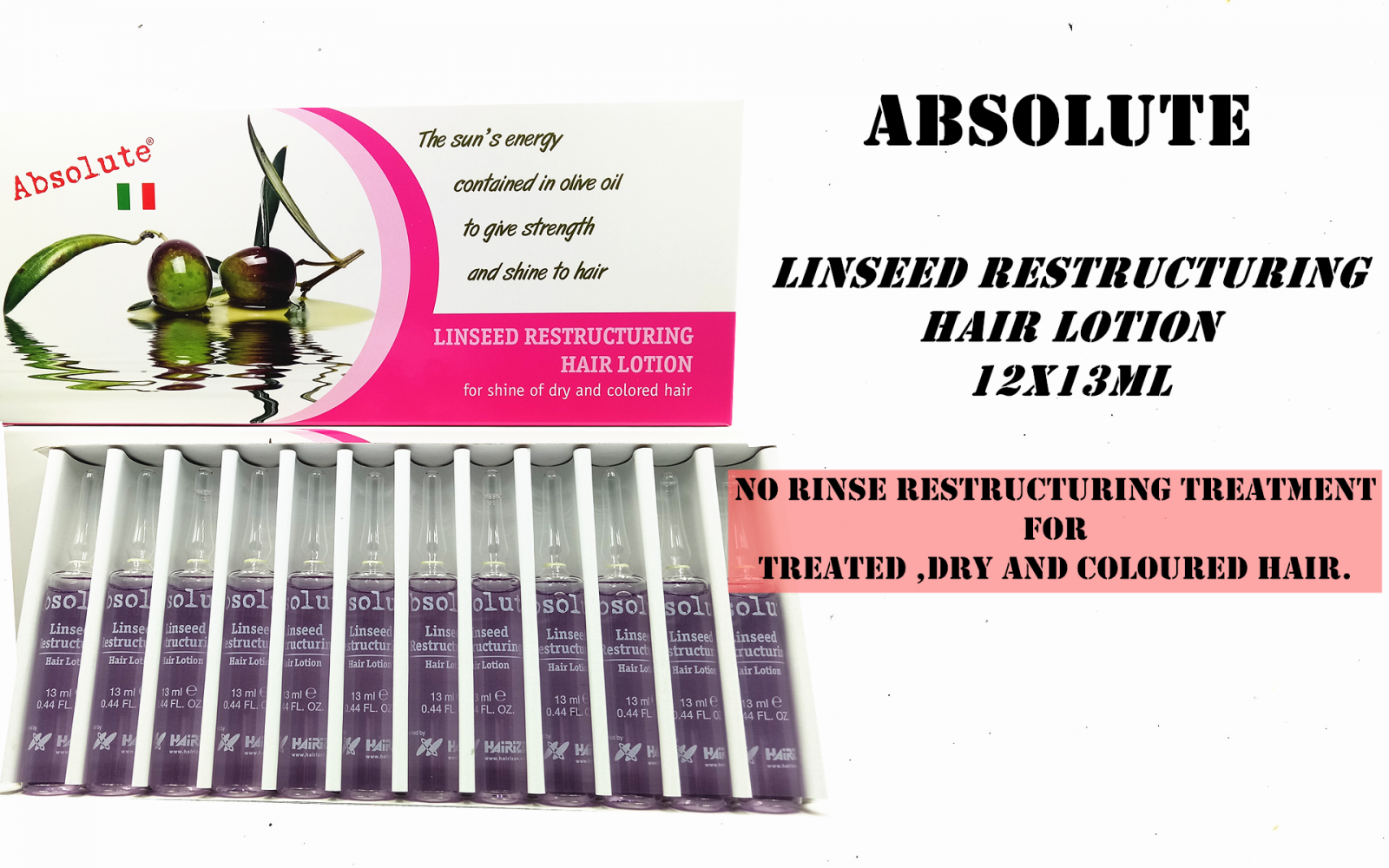 Absolute Linssed Restructuring Hair Lotion 12X13ML