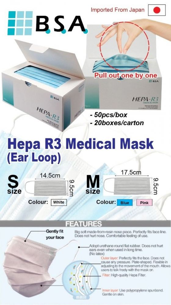[LIMITED STOCK] HEPA R3 Medical Mask