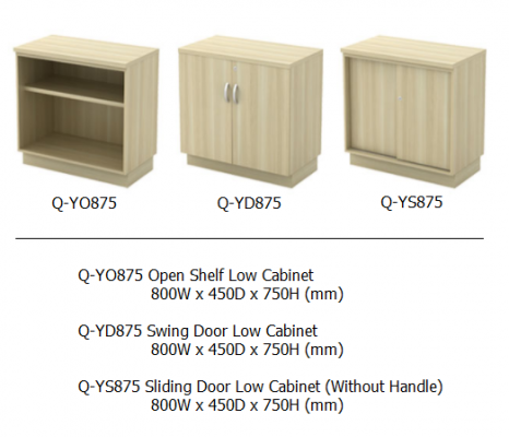 Q-YO875 Open Shelf Low Cabinet