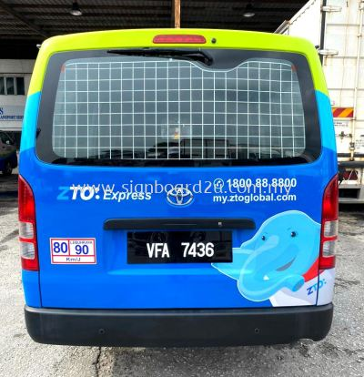ZTO Express (Malaysia) Sdn Bhd Van Body Design Sticker & Paint at Shah Alam Selangor