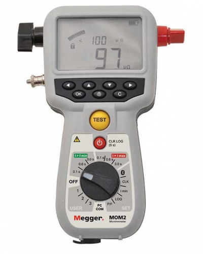 MEGGER MOM2 Hand-held 200A MICRO-OHM METER
