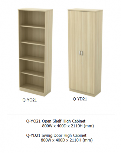 Q-YO21 Open Shelf High Cabinet
