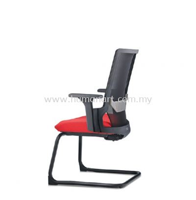 OTISY VISITOR ERGONOMIC MESH CHAIR C/W EPOXY BLACK CANTILEVER BASE AOT8813N-92EA75