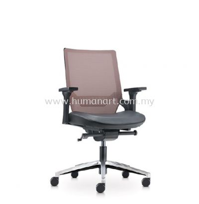 OTISY MEDIUM BACK ERGONOMIC MESH CHAIR C/W ALUMINIUM BASE AOT8811L-18D95