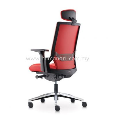 OTISY HIGH BACK PU ERGONOMIC CHAIR C/W ALUMINIUM BASE AOT8810P-18D95