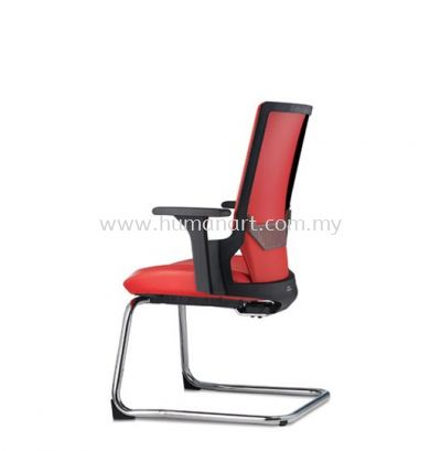 OTISY VISITOR ERGONOMIC LEATHER CHAIR C/W CHROME CANTILEVER BASE AOT8813P-92CA75