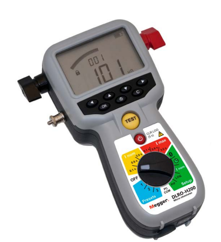 MEGGER DLROH200 HAND-HELD 200A MICRO-OHM METER