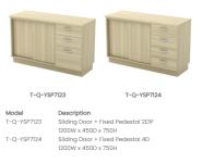 Q-YSP7123 Sliding Door + Fixed Pedestal 2D1F