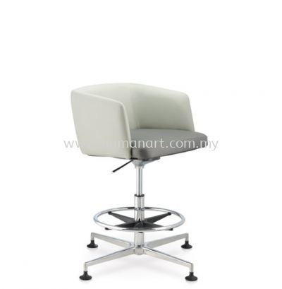 ANTHOM EXECUTIVE LOW BACK LEATHER CHAIR C/W 4 PRONGED ALUMINIUM BASE WITH STUD AT6632L-15RH