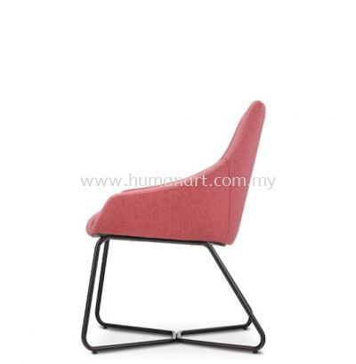 ANTHOM EXECUTIVE VISITOR LOW BACK FABRIC CHAIR C/W EPOXY BLACK CANTILEVER BASE AT 6622F-91E