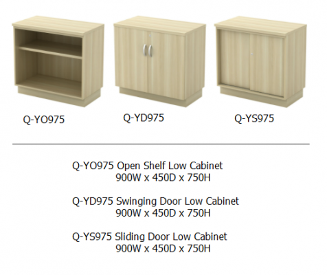 Q-YO975 Open Shelf Low Cabinet