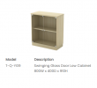 Q-YG9 Swinging Glass Door Low Cabinet EX Series Office Furniture Office Eqiupment