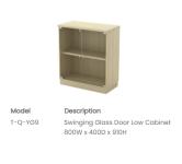 Q-YG9 Swinging Glass Door Low Cabinet