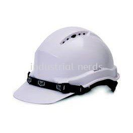 White Hard Hat with Ratchet Lock
