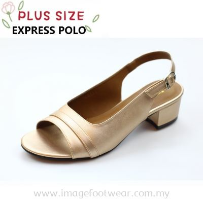 Express Polo Plus Size Ladies Sandal with 1.2 Inch Heel - SL- 9191- BRONZE Colour